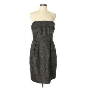 Shoshanna Black & Gold Polkadot Strapless Dress